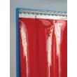 Hőstop hegesztőfüggöny minősített, piros színű szalagokból