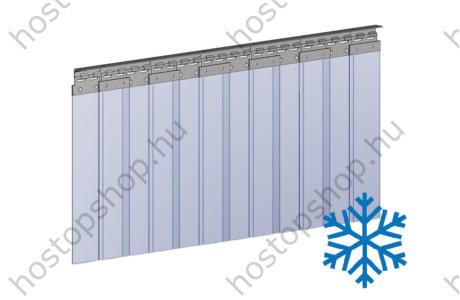 Hőstop függöny 100×2,0 mm-es fagyálló szalagokból