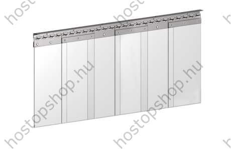Hőstop függöny 200×3,0 mm-es normál szalagokból