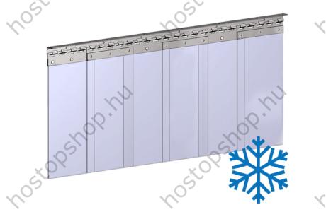 Hőstop függöny 200×2,0 mm-es fagyálló szalagokból