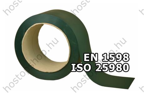 300×2,0 mm-es EN 1598-as matt zöld hegesztő Hőstop PVC szalag (50 m)