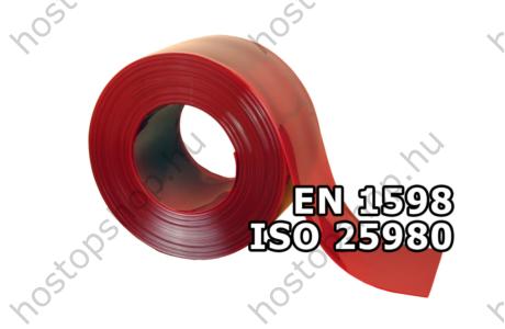 300×2,0 mm-es EN 1598-as piros hegesztő Hőstop PVC szalag (Ref.302)