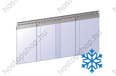 Hőstop függöny 300×3,0 mm-es fagyálló szalagokból