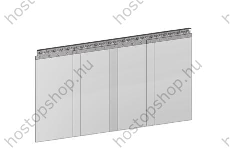 Hőstop függöny 400×4,0 mm-es normál szalagokból