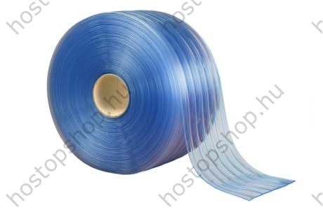 200×2,0 mm-es normál, bordázott, víztisztán átlátszó Hőstop PVC szalag (Ref.100R)